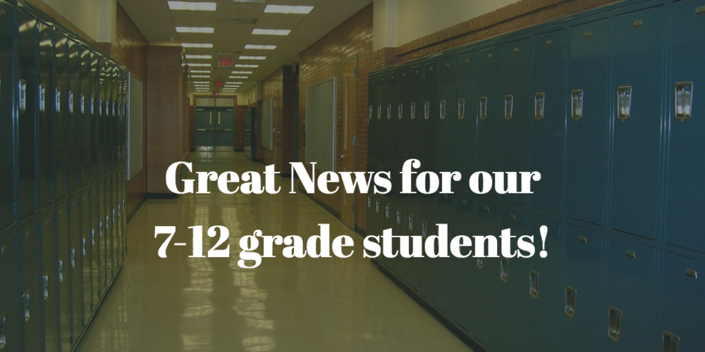 Increased In-Person Learning for 7-12 Grade Students